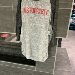 "BKE Tops - NWT ""Unstoppable"" Burnout shirt"